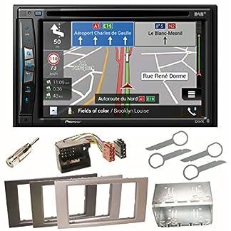 Pioneer-AVIC-Z710DAB-Navigation-Digitalradio-CarPlay-Bluetooth-USB-DAB-CD-DVD-MP3-Einbauset-fr-Ford-Focus-C-Max-Fiesta-Transit