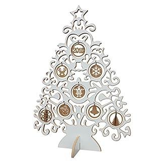 Original-BestLoft-2D-Designer-Weihnachtsbaum-in-wei-mit-Schmuck-in-braun-Holzweihnachtsbaum-Christbaumschmuck-Geschenke-Christbaum