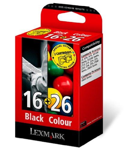 Lexmark-Kombipack-Patrone-Nr16-Patrone-Nr-26-Tinte-Z13Z23Z24Z25Z33Z34Z602X75X1150i3-cyanmagentagelb-schwarz