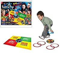 Toyland-Bottle-Flip-Challenge-Familien-Deluxe-Brettspiel-54-Flaschen-Flipping-Herausforderungen-Ideal-fr-Weihnachtsfeiern-2-6-Spieler