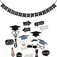 LUOEM-Abschlussfeier-Foto-Requisiten-und-Congratulations-Banner-Graduation-Party-Dekoration