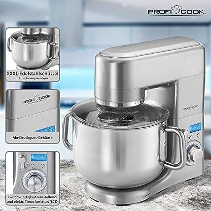 Profi-Cook-PC-KM-1096-Kchenmaschine-188-Edelstahl-10-liters
