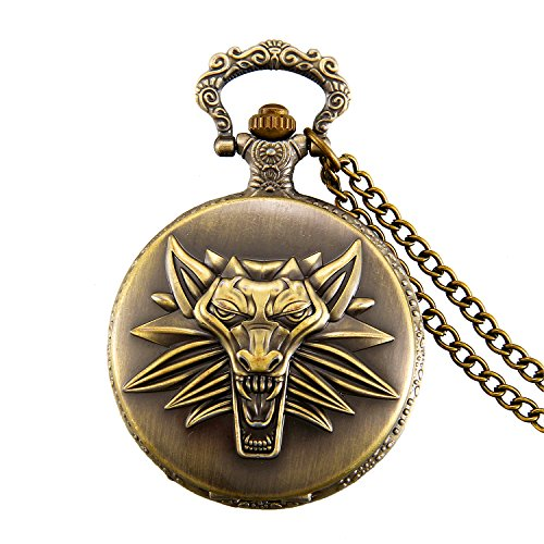 JewelryWe-Retro-Gotik-Wolf-Kopf-Taschenuhr-1224H-Herren-Unisex-Analog-Quarz-Uhr-mit-Halskette-Kette-Pocket-Watch-Geschenk-Bronze