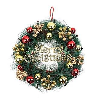 Weihnachts-DekorWawer-Weihnachts-Kranz-Hngende-Ornament-Knstliche-Girlande-Kranz-Blatt-Fall-Tren-Wand-Dekoration-30CM