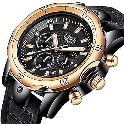 Herren-Uhren-Marke-Luxus-Gold-Quarz-Herren-Casual-Leder-Military-Wasserdicht-Sport-Armbanduhr-relogio