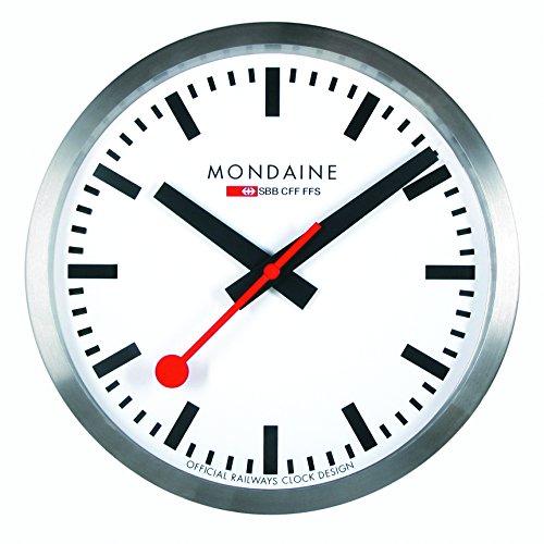 Mondaine-Offizielle-Schweizer-Bahnhofsuhr-stop2go-Smart-Wanduhr-fr-iOSAndroid-Bluetooth