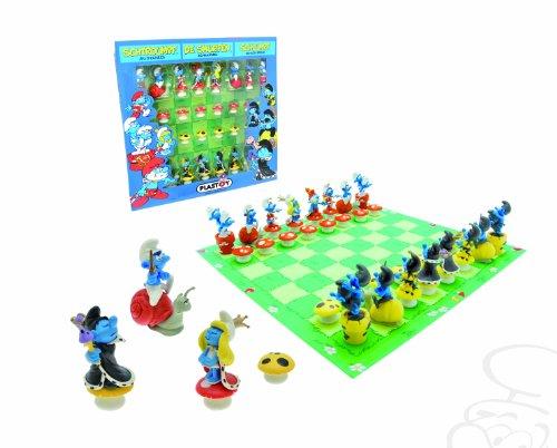 Plastoy-SAS-PLA69002-Die-Schlmpfe-Schachspiel-Brettspiel