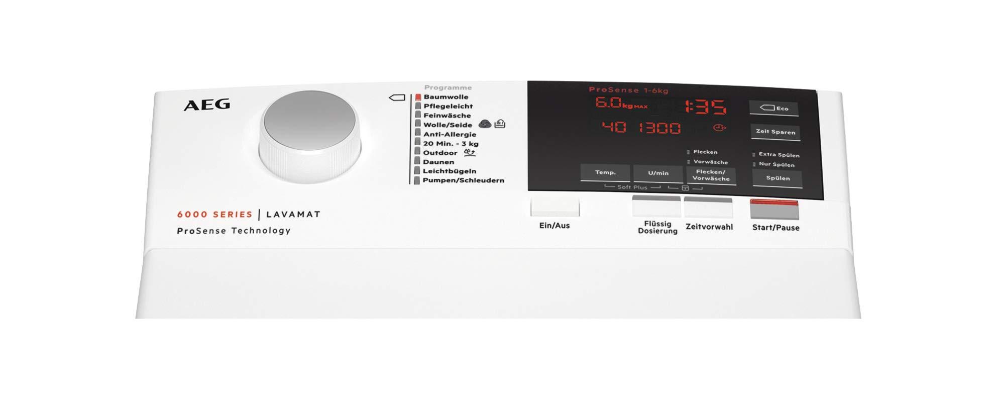 AEG-L6TBA664-Waschmaschine-Toplader-60-kg-Leise-Mengenautomatik-Nachlegefunktion-Kindersicherung-Allergikerfreundlich-Wasserstopp-1200-Umin