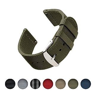 Archer-Watch-Straps-Premium-Nylon-Quick-Release-Ersatz-Uhrenarmband-fr-Damen-und-Herren-Uhrenband-fr-Uhr-und-Smartwatch-Mehrere-Farben-18mm-20mm-22mm