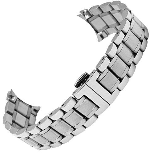 New-21-mm-Silber-Edelstahl-massiv-Armband-Uhrenarmband-Band-Passform-Longines-Master