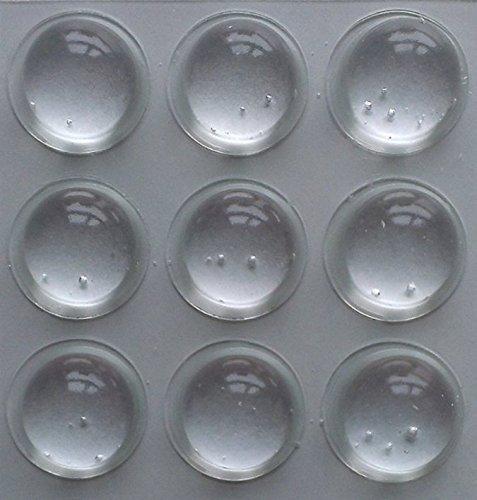 FD-Workstuff® Elastikpuffer 16 Stück / Anschlagpuffer Transparent / Möbelpuffer Selbstklebend / Ø 16,0 mm Höhe =7,9 mm / Schutzpuffer Anschlagdämpfer / Gummipuffer …