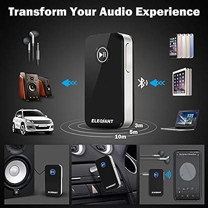ELEGIANT-Bluetooth-Empfnger-Adapter-Audio-41-Drahtlos-Receiver-Tragbare-Audiogerte-fr-KFZ-Auto-HiFi-Lautsprechersystem-Heim-Stereoanlage-mit-35-mm-Aux-Input