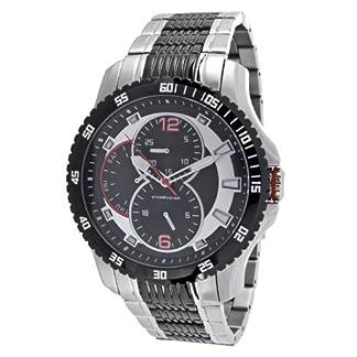 Steel-Master-Quarz-Uhr-Armbanduhr-fr-Herren-Mnner-Herrenuhr-Mnneruhr-Chronograph-Analog-Edelstahl-Armband-in-Silber-Quarzuhr-CAP1103213C