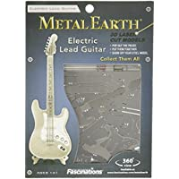 Fascinations-Metal-Earth-MMS074-502730-Electric-Lead-Guitar-Konstruktionsspielzeug-1-Metallplatine-ab-14-Jahren