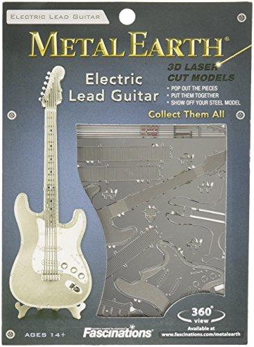 Fascinations-Metal-Earth-MMS074-502730-Electric-Lead-Guitar-Konstruktionsspielzeug-1-Metallplatine-ab-14-Jahren