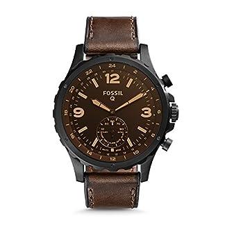 Fossil-Hybrid-Smartwatch–F-Nate-Leder-Braun-Dunkelbraun-ftw1159
