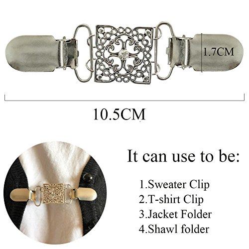 Silber Pullover Clip für die Rückseite der Taille Kleid Kragenklammer Frau Hemdklammer Jacke Clip
