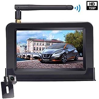 Yakola-W9-Kabellos-Digital-Rckfahrkamera-Set-mit-eingebautem-Funksender-Wireless-Wasserdicht-IP68-Backup-AutoKamera-109cm-43-LCD-Monitor-LED-Nachtsicht-fr-SUVVanKfZAnhnger