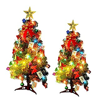 Bloomma-Weihnachtsbaum-Tischplatte-Mini-Weihnachtsbaum-Set-mit-Ornamente-Dekoration-Geschenke-fr-Geburtstagsfeier-DIY-Weihnachtsdekorationen