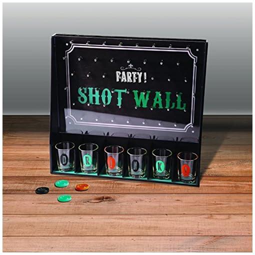 Party-Shot-Wall-Trinkspiel-Partygame-inkl-Chips-und-6-Shooter-Glser