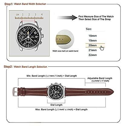 Schnellverschluss-Echtes-Leder-Uhrenarmband-18mm-Braun-Ersatzarmband-Poliert-Uhrenverschluss-Rosgoldschnalle-Gepolstert-Super-Weich18mm-20mm-22mm