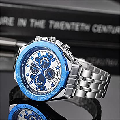Souarts-Herrenuhr-Analog-Quarz-Armbanduhr-Einfach-Mode-Vier-Design-Zifferblatt-mit-Edelstahl-Armband