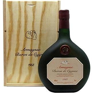 Raritt-Armagnac-Baron-de-Cygnac-Jahrgang-1968-07l-incl-Holzkiste