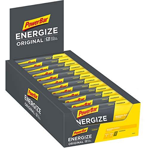 Energieriegel Energize mit Magnesium und Natrium – Fitness-Riegel, Kohlenhydrate Riegel mit Hafer und Früchten bei erhöhtem Energiebedarf – 25 x 55 g Banana Punch