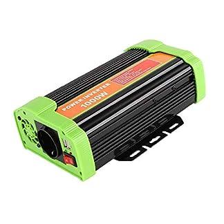 MVPower-Spannungswandler-300W600W1000W-Wechselrichter-DC-12V-auf-AC-220V-mit-CEROHS-Zertifiziert-2-USB-Anschlsse-IKS-Zigarettenanznder-SteckerAutobatterieclips