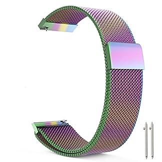 Metou03-Vollmagnetischer-Verschluss-Verschluss-Maschenschlaufe-Milanese-Edelstahl-Metallersatzband-Armband-Bgel-Schnellverschluss-fr-Frauen-und-Mnner