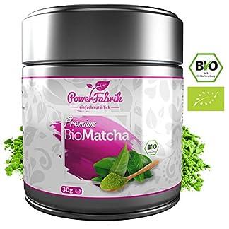 BIO-Matcha-Tee-Pulver-30g-WINTERAKTION-Original-Grntee-aus-JAPAN-zertifiziert-in-Deutschland-PREMIUM-Qualitt-aus-kontrolliertem-BIO-Anbau-GRATIS-REZEPTBUCH-Aroma-Metalldose