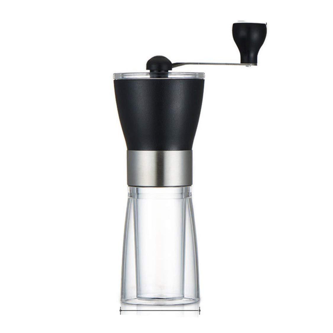 Haushaltskaffeemhle-Schwarz-Transparent