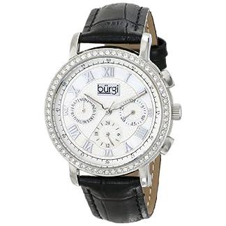 Burgi-Damen-Armbanduhr-Classic-Analog-Display-Swiss-Quarz-mit-Lederband