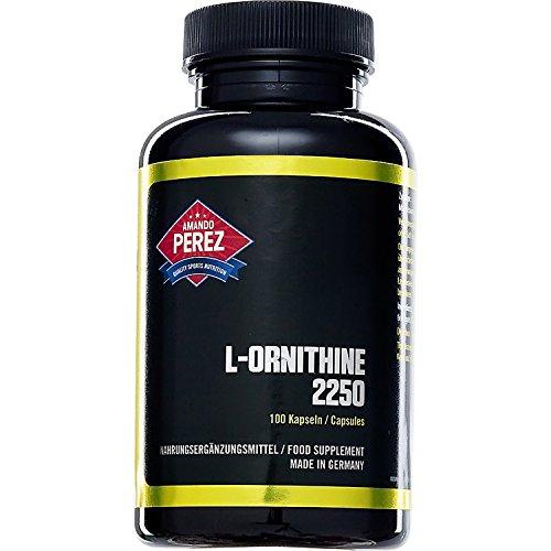 L-Ornithin – 2250 mg pro Dosis – 100 Kapseln – hochdosierte Aminosäure