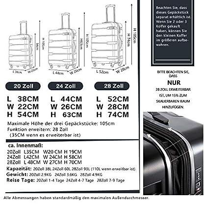 COOLIFE-Koffer-Reisekoffer-Vergrerbares-Gepck-Nur-Groer-Koffer-Verweiterbar-PC-ABS-Material-mit-TSA-Schloss-und-4-Rollen-Handgepck-Mittelgroer-Groer-Koffer