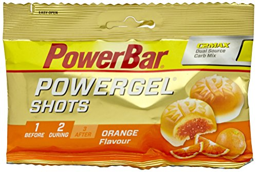 Power Gel Shots mit Kohlenhydraten – Energie Gummis – Vegan – Orange 16 x 60 g