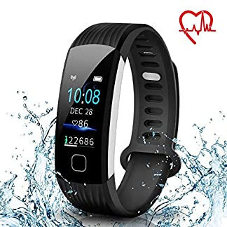 AISIRER-Fitness-Armband-Uhr-Fitness-Tracker-mit-Pulsmesser-Wasserdicht-IP67-096-Farbbildschirm-Schrittzhler-Schlafmonitor-Vibrationsalarm-Anruf-SMS-Whatsapp-Beachten-fr-IOS-Android-Handy