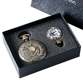 Taschenuhr-mit-Bronze-Drachen-Motiv-Vintage-Quarz-Taschenuhr-fr-Herren-und-Damen-Sohn-und-Papa