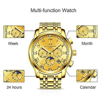 RORIOS-Herren-Edelstahl-Automatisch-Mechanisch-Kalender-Woche-Rmisch-Nummer-Metallarmband-Armbanduhr