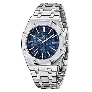 BERSIGAR-Men-Stylish-Sophisticated-Quarzuhr-Herren-Analog-Quartz-Wrist-Watch-Edelstahlarmband-wasserdicht-50M
