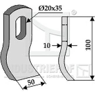 Schlegelmesser-Mulchermesser-100-x50-x-10-mm-63-MUL-52-passend-Mulag-Mulcher