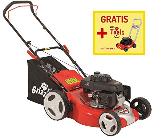 Grizzly-Benzin-Rasenmher-BRM-46-160-HA-Honda-4in1-inkl-Kinderrasenmher-gratis