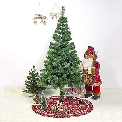 Lifet-Weihnachtsbaumdecke-Rot-Weihnachtsbaum-Rock-Runde-Baumdecke-Christbaumstnder-Teppich-Decke-Weihnachtsbaum-Deko-100cm