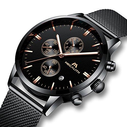 Herren-Uhren-Mnner-Militr-Sport-Wasserdicht-Chronograph-Schwarz-Edelstahl-Mesh-Armbanduhr-Mann-Luxus-Mode-Leuchtende-Datum-Analoge-Uhr