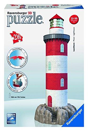 Ravensburger-12565-Leuchtturm-in-der-Brandung-216-Teile-3D-Puzzle-Bauwerke