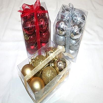 12-x-stilvoller-Christbaumschmuck-Weihnachtskugeln-in-Geschenk-Sichtpackung-mit-Schleife-bruchfest-Auswahl-GOLD-SILBER-ROT-FARBE-Durchmesser-je-5-cm-mit-Schlaufe-goldfarben-ROT