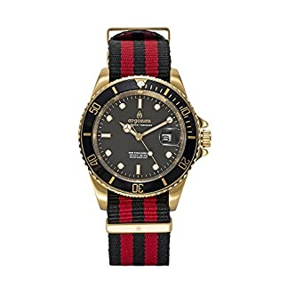 argonau-Herren-Armbanduhr-24K-Gold-berzogen-Edelstahl-Zifferblatt-Saphir-Kristallglas-Quarz-Analog-Wasserdicht-Spezielle-Deep-Ocean-Serie-Professionelle-Taucher-Armbanduhr-AU3030