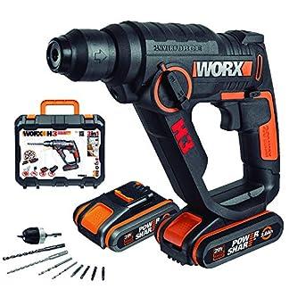 WORX-WX390-Bohrhammer-SDS-plus-20V-Bohrmaschine-mit-pneumatischem-Hammerwerk-Akku-Ladegert