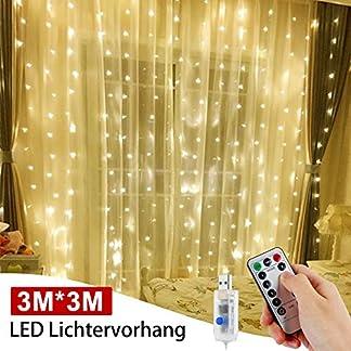 LED-Lichtervorhang-300-LEDs-984ft-984ft-Leuchtvorhang-Vorhang-Licht-LED-Lichterkette-mit-8-Leuchtmodi-und-Dimmbare-Fernbedienung-Wasserdicht-Weinachtsbeleuchtung-fr-Party-Deko-Hochzeit