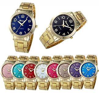 Damen-Einfach-Design-Edelstahl-Armbanduhr-Quartzuhr-Analog-mit-Batterie